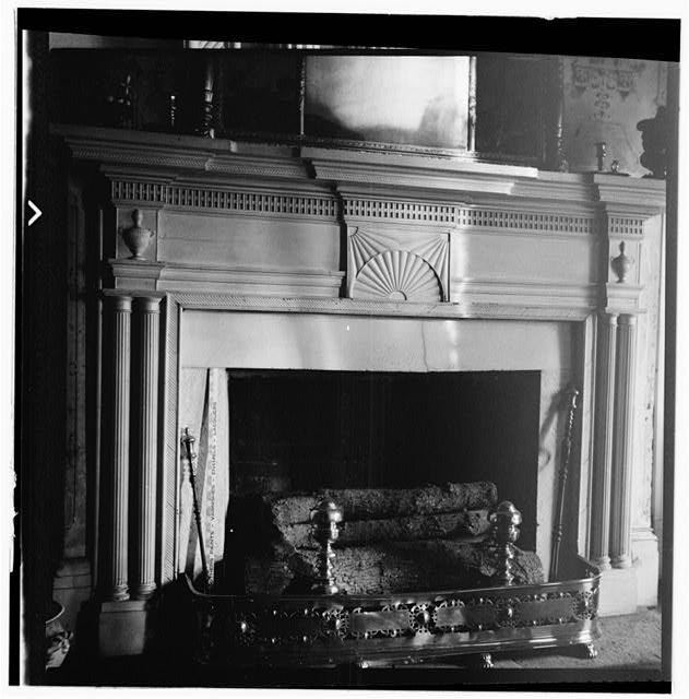 28.  Historic American Buildings Survey, W. Jeter Eason- Deputy District Officer, Photographer November 21, 1936 MANTLE IN GENERAL JACKSON'S ROOM. - The Hermitage, U.S. Highway 70 North (4580 Rachel's Lane), Nashville, Davidson County, TN