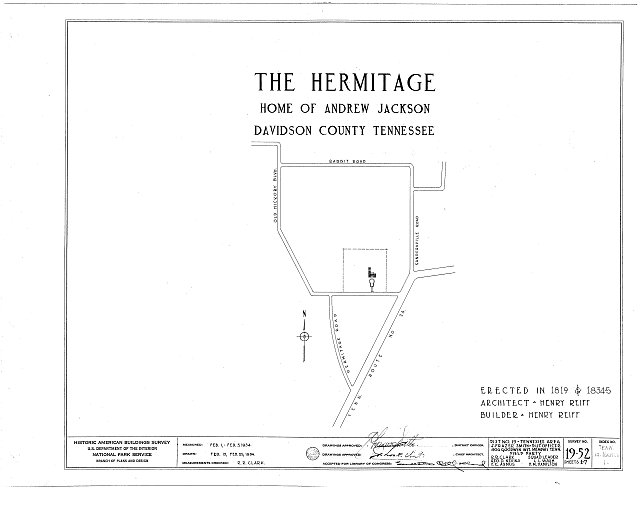 HABS TENN,19-NASH.V,1- (sheet 0 of 7) - The Hermitage, U.S. Highway 70 North (4580 Rachel's Lane), Nashville, Davidson County, TN