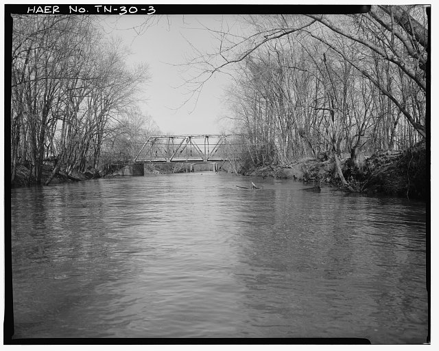 3.  Elevation, facing northwest - Campbell's Levee Bridge, Spanning South Fork, Forked Deer River at Westover Road, Jackson, Madison County, TN