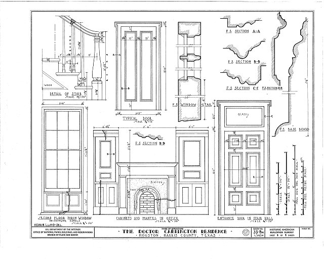 HABS TEX,101-HOUT,2- (sheet 4 of 4) - Dr. Carrington House, Crawford Street & Rusk Avenue, Houston, Harris County, TX