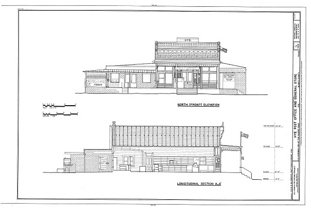 HABS TEX,16-HYE,1A- (sheet 3 of 3) - Hye Post Office & General Store, Hye, Blanco County, TX