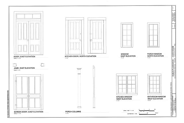 Door & Window Details - Dublin Plantation, Main House, 3135 Cottonwood Creek Road, Kingsbury, Guadalupe County, TX