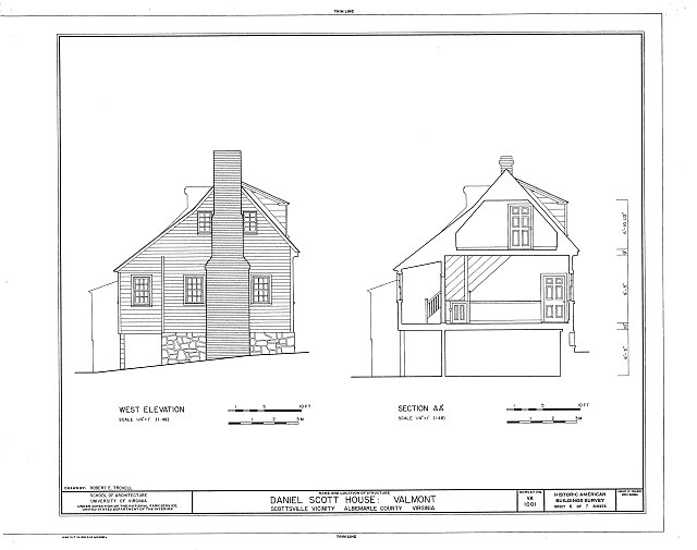 HABS VA,2-SCOTS.V,1- (sheet 6 of 7) - Daniel Scott House, Warren Road, Route 726, Scottsville, Albemarle County, VA