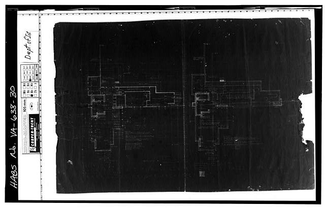 30.  Photocopy of measured drawing (original at Taliesin West, Scottsdale, Arizona) - Pope-Leighey House, 9000 Richmond Highway (moved from Falls Church, VA), Mount Vernon, Fairfax County, VA