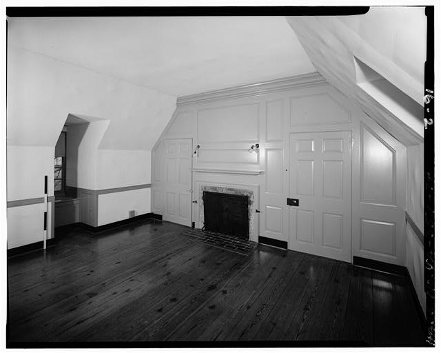 74.  WEST BEDROOM LOOKING SOUTHWEST, SECOND FLOOR, LOCATED AT WEST END OF HOUSE OVER FIRST FLOOR OFFICE WING - Carter's Grove, U.S. Route 60 vicinity, Williamsburg, Williamsburg, VA