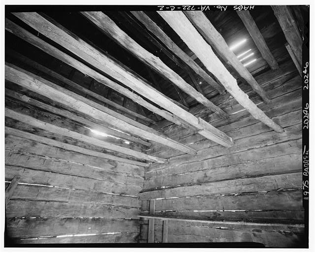 2.  INTERIOR, SHOWING CURING POLES - Sherwood Forest, Smokehouse, State Route 5 vicinity, Charles City, Charles City, VA