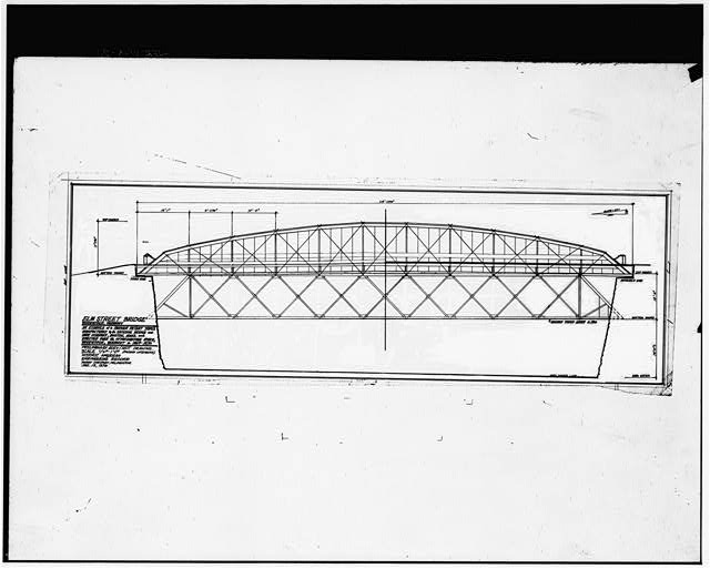 26.  Photocopy of drawing (original prepared by Margy Chrisney, December 1976) PRELIMINARY ELVATION/SECTION DRAWING - Elm Street Bridge, Spanning Ottauquechee River, Woodstock, Windsor County, VT