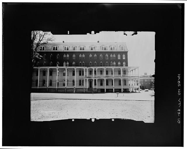 10.  WEST ELEVATION, SOUTH PORTION--INCLINED Copy photograph of photogrammetric plate LC-HABS-GS05-S-206-02L. - Pavilion Hotel, State Street, Montpelier, Washington County, VT