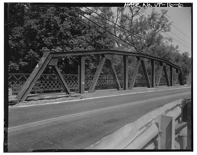 6.  View northwest, west truss of pony (approach) span - Vermont Bridge No. 48, Spanning Winooski River at U.S. Route 2, Waterbury, Washington County, VT