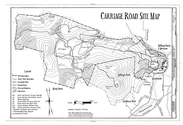 HAER VT,14-WOOD,9- (sheet 2 of 10) - Marsh-Billings-Rockefeller Carriage Roads, Woodstock, Windsor County, VT