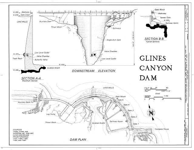 HAER WASH,5-POAN.V,3B- (sheet 3 of 6) - Elwha River Hydroelectric System, Glines Hydroelectric Dam & Plant, Port Angeles, Clallam County, WA