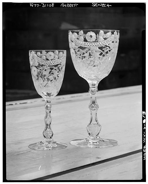 13.  OLD STEMWARE, EXAMPLES. - Seneca Glass Company Factory, Beechurst Avenue between Sixth & Eighth Streets, Morgantown, Monongalia County, WV