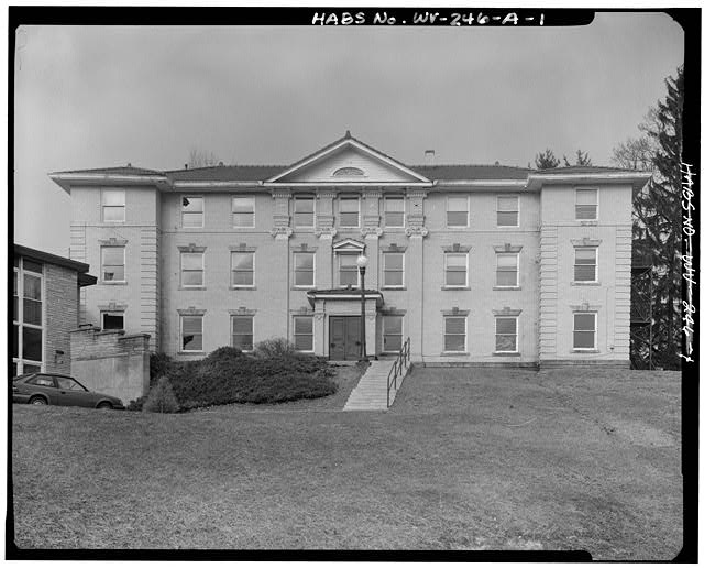 1.  VIEW NORTHWEST, SOUTHEAST FRONT - Alderson-Broaddus College, Whitescarver Hall, West side of U.S. 119/250, North of covered bridge, Philippi, Barbour County, WV