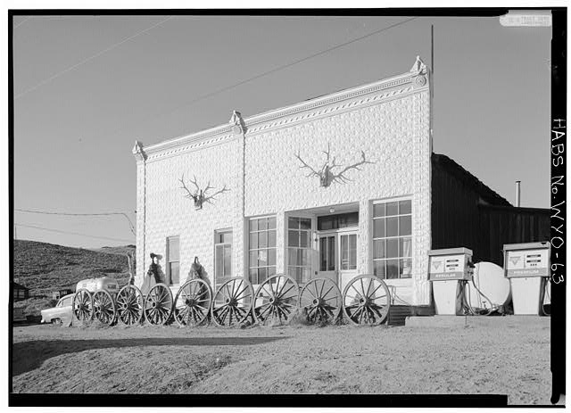 General view of front facade from southeast - Mercantile Bar, Atlantic City, Fremont County, WY