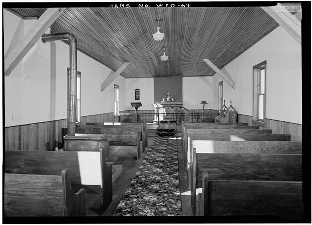 General view of interior from south - St. Andrew's Episcopal Church, Atlantic City, Fremont County, WY