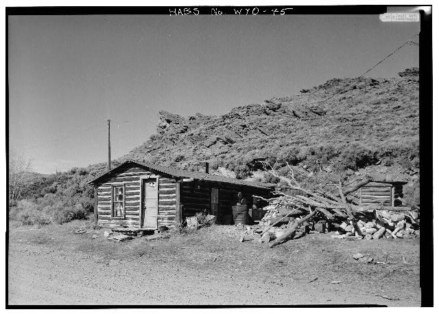 GENERAL VIEW FROM SOUTHEAST - Tibbals-Sager Cabin, South Pass Avenue, South Pass City, Fremont County, WY