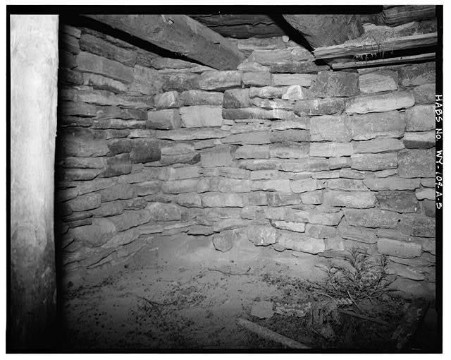 5.  INTERIOR, WEST WALL - Rock Well Homestead, Dugout, 15 miles Southeast of Wright, Wright, Campbell County, WY