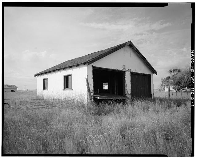 1.  EAST SIDE AND NORTH FRONT - Dunlap Ranch, Garage, Gillette, Campbell County, WY