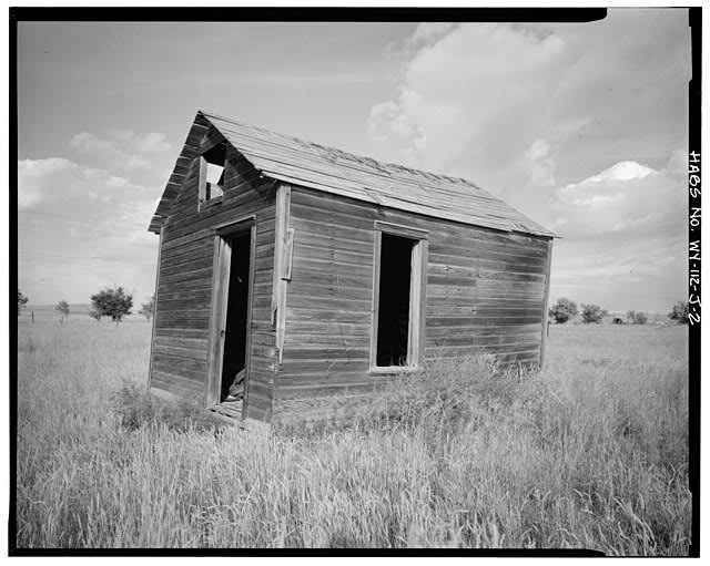 2.  SOUTH FRONT AND EAST SIDE - Dunlap Ranch, Homestead Cabin, Gillette, Campbell County, WY