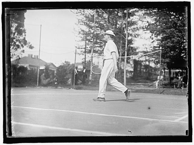 McCLUNG, LEE. TREASURER OF THE U.S. PLAYING TENNIS