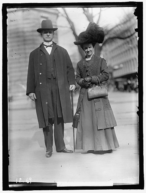 KITCHIN, WILLIAM WALTON. REP. FROM NORTH CAROLINA, 1897-1909; GOVERNOR, 1909-1913. WITH MRS. KITCHIN
