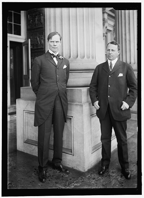 COX, JAMES MIDDLETON. REPRESENTATIVE FROM OHIO, 1909-1913, WITH GOVERNOR SULZER OF NEW YORK