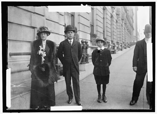 JACKSON, WILLIAM PURNELL. SENATOR FROM MARYLAND, 1912-1914. WITH MRS. JACKSON AND SON