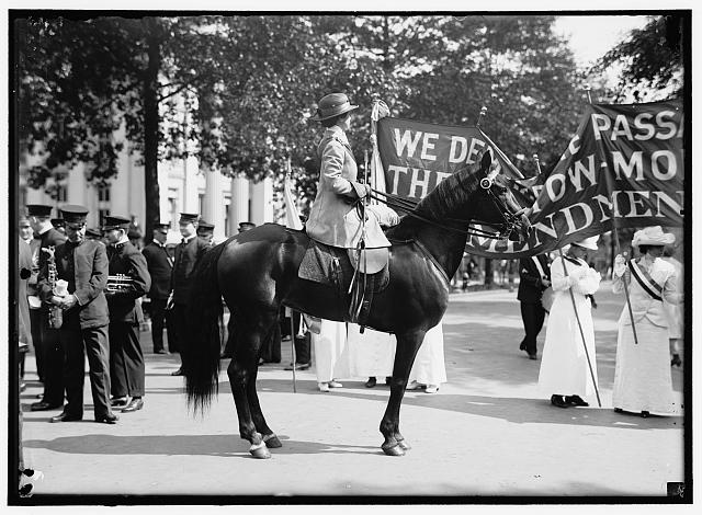 WOMAN SUFFRAGE. PARADE, MAY 1914