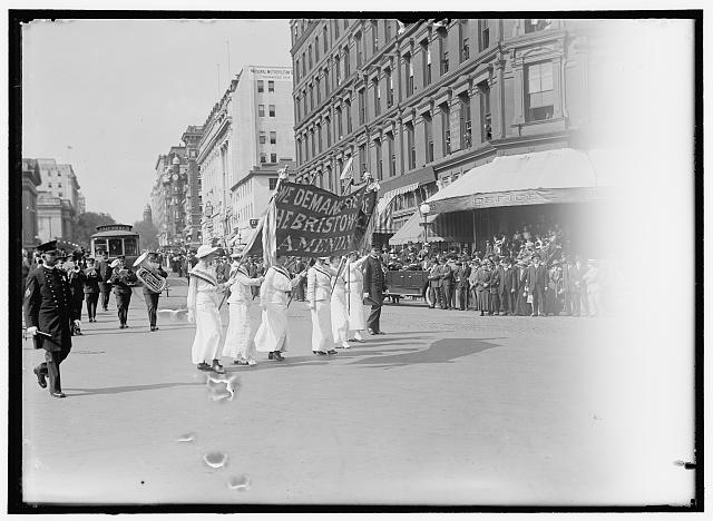 WOMAN SUFFRAGE PARADE, MAY 1914