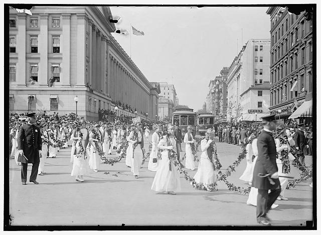 WOMAN SUFFRAGE PARADE, MAY, 1914
