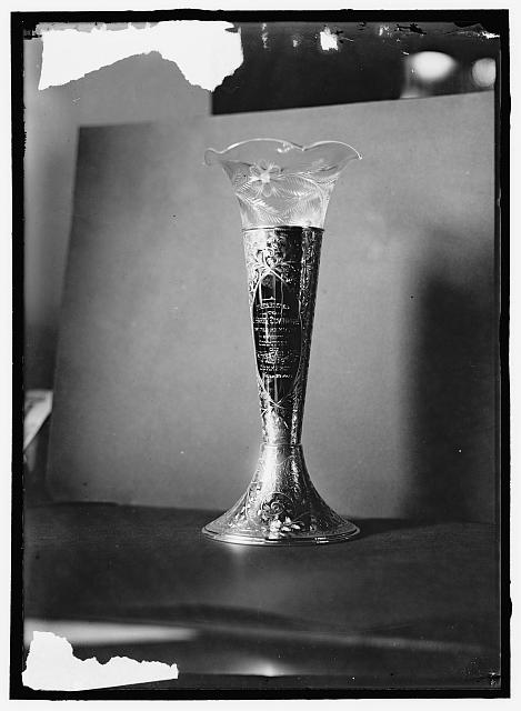 "[Cup or Vase ""Presented to J. Harry Covington by the members of the Committee fo Interstate and Foreign Commerce, June 30, 1914""]"