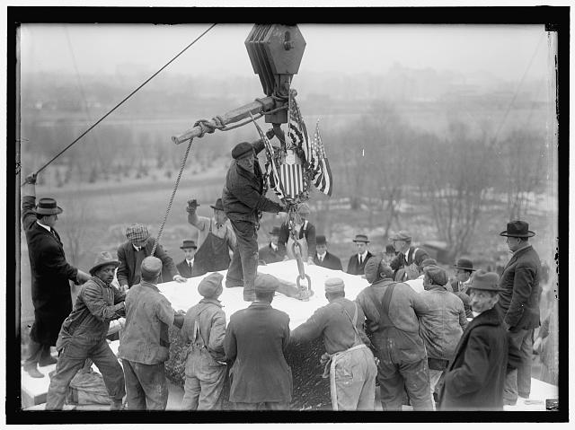 LINCOLN MEMORIAL. LAYING CORNERSTONE