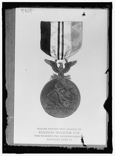 MEDALS, DECORATIONS, ETC. MEDAL SUBMITTED BY BAIRD-NORTH CO.