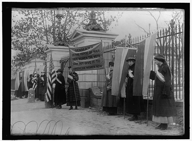 WOMAN SUFFRAGE PICKET PARADE