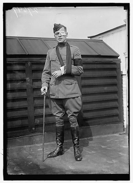 GIBBONS, FLOYD P. WAR CORRESPONDENT, AFTER BEING WOUNDED