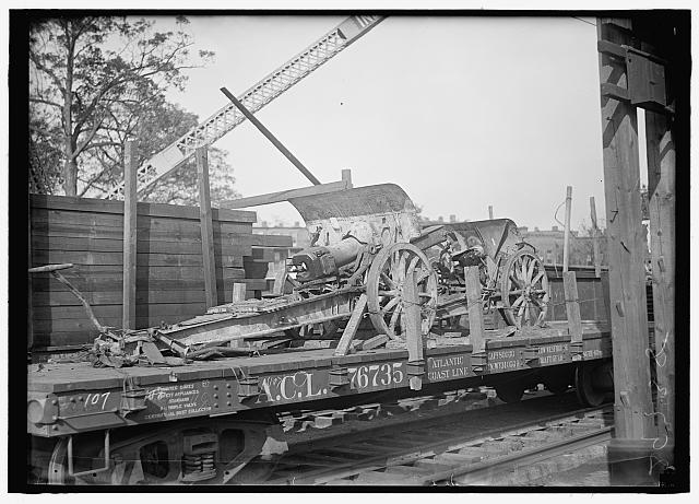 GERMAN ORDNANCE. CAPTURED GERMAN GUN