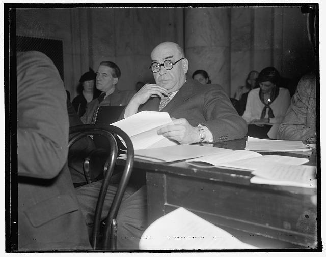 "Boston merchant before senate committee. Washington, D.C., Jan. 13. Louis E. Kirstein, Boston merchant, appearing before the senate unemployment committee, said ""that developments have reached the stage in this country where no one group of agencies can deal adequately with the totality of community needs."" ""Neither the federal, state, nor local city or town units meet these needs. In other words,"" he said, ""what we need is a program in which every agency, public or private, federal, state, or local will play its part without sacrificing any of the values and special contributions which each type or agency can make,"" 1/13/38"