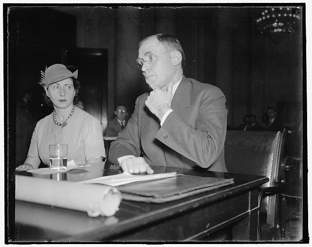 "Appears before senate unemployment committee. Washington, D.C., Jan. 13. J.D.A. Morrow, President of the Pittsburgh Coal Co., today asked the administration for ""a frank acknowledgement of mistakes"" and ""a clear and unequivocal statement of future policies without any intimations or suspicions of concealed or different purposes,"" 1/13/38"