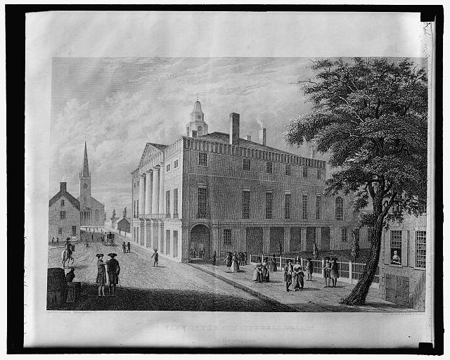 The Old City Hall, Wall St., N.Y. 1789