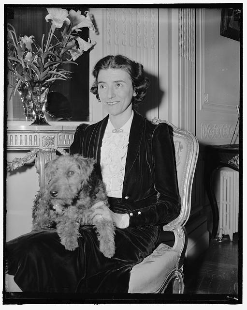 Wife of Czechoslovakian Minister. Washington, D.C., April 3. A New Informal Picture of Mrs. Vladimir Hurban, wife of the Minister from Czechoslovakia. 4-3-39