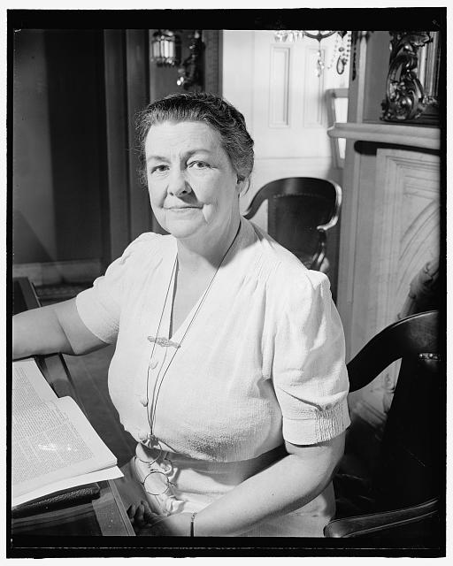 Congresswoman from New Jersey. Washington, D.C., July 26. A new informal picture of Rep. Mary T. Norton, Democratic member of Congress from New Jersey