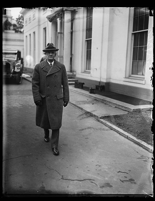 Col. M.T. Walker, new Governor of Panama, snapped leaving the White House where he held a conference with President Coolidge