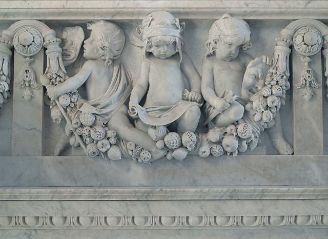 [Great Hall. Detail of cherubs representing the literary genres on the Grand staircase by Philip Martiny. Library of Congress Thomas Jefferson Building, Washington, D.C.]