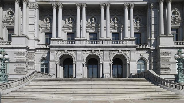 [Exterior view. View of approaches from the west façade of the Jefferson Building. Library of Congress Thomas Jefferson Building, Washington, D.C.]
