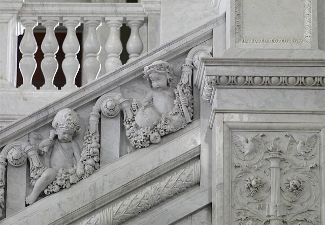 [Great Hall. Detail of putti (electrician and astronomer) on the Grand staircase, Philip Martiny. Library of Congress Thomas Jefferson Building, Washington, D.C.]