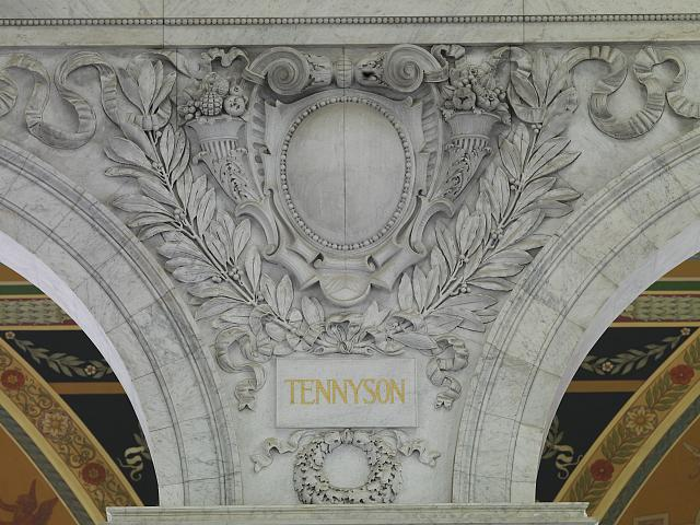 [Great Hall. Cartouche of Tennyson. Library of Congress Thomas Jefferson Building, Washington, D.C.]