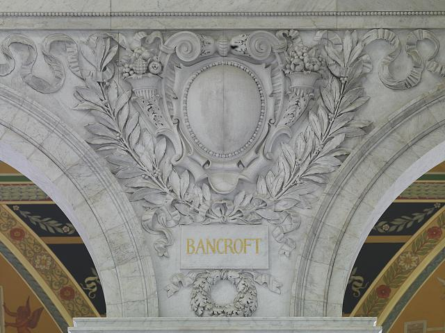 [Great Hall. Cartouche of Bancroft. Library of Congress Thomas Jefferson Building, Washington, D.C.]
