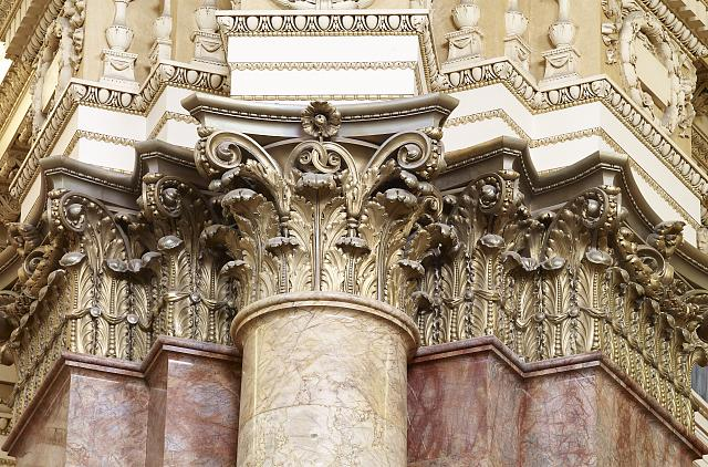 [Main Reading Room. Detail of capitals of engaged columns. Library of Congress Thomas Jefferson Building, Washington, D.C.]