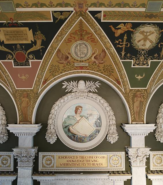 [Second Floor, East Corridor. Mural Knowledge by Robert Reid. Library of Congress Thomas Jefferson Building, Washington, D.C.]