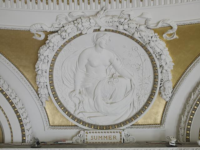 [Second Floor, Northwest Pavilion. Circular relief of Summer by Bela L. Pratt. Library of Congress Thomas Jefferson Building, Washington, D.C.]